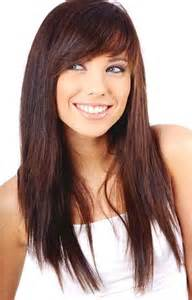 Bangs hairstyles on long hair picture 9