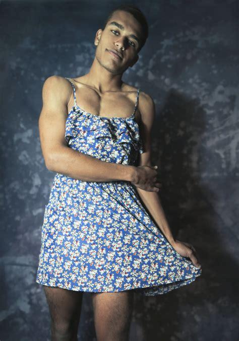 men padlocked in a women's dress picture 3