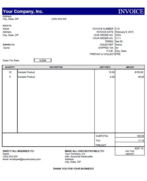 free online business invoice picture 17