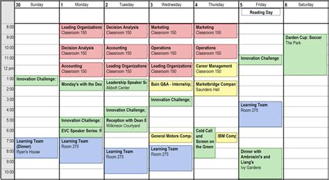 schedule picture 19