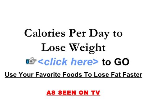 Calories per day for weight loss picture 2