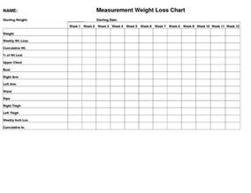 free weight loss and measurement chart picture 3