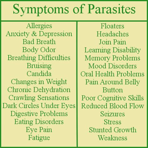 symptoms of intestinal parasites picture 2