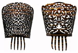 spanish mantilla wedding hair combs picture 6