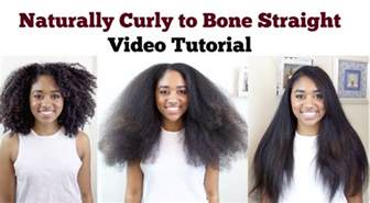 how to straighten natural hair video picture 3