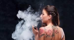 woman in cloud of cigarette smoke picture 9