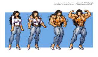 female muscle growth art picture 10