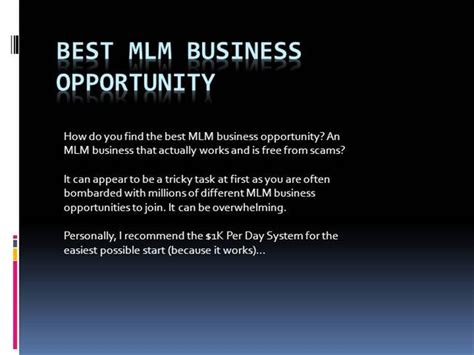 top mlm business opportunity picture 1