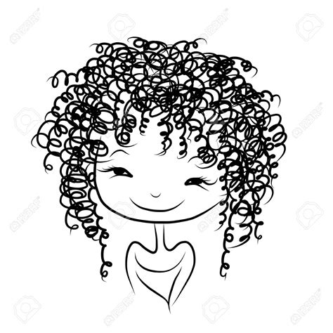 curly hair clipart picture 14