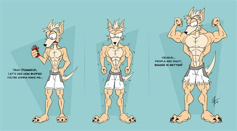 cartoon male muscle transformation picture 3