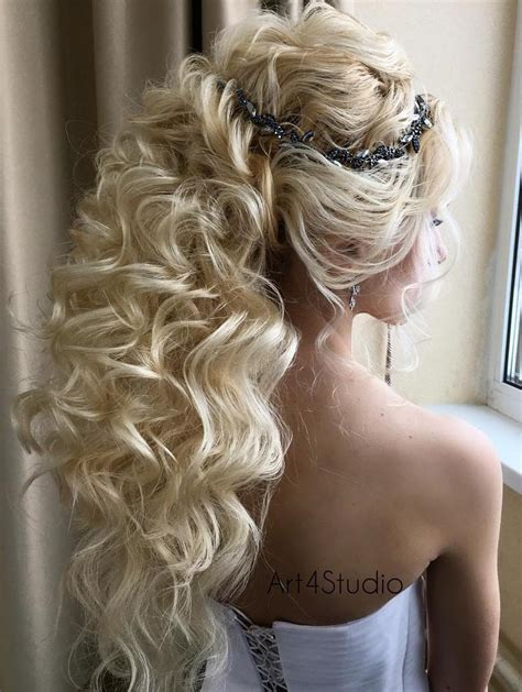 curly frizzy hair updo for wedding picture 13