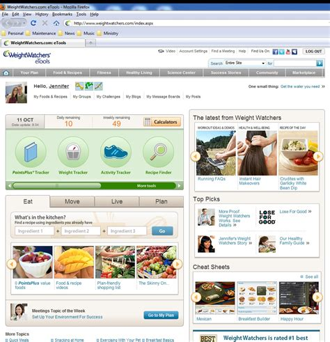 weighchers online weight loss - weight watchers etools picture 6