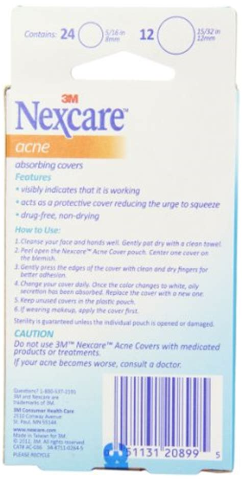nexcare acne cover, drug-free, gentle, breathable cover, 36 count picture 9