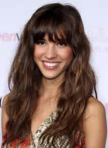 Bangs hairstyles on long hair picture 17