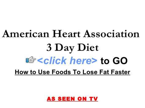 american heart 3 day diet picture 3