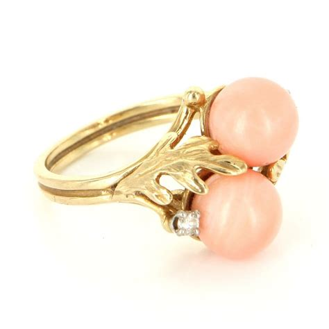 angel skin coral gold ring picture 9