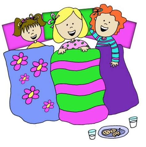 clip art with sleep over partys picture 1