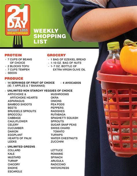 free weight loss shopping list picture 14