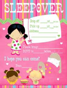 free printable sleepover party invitation picture 19