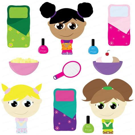 clip art with sleep over partys picture 8