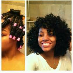 perm my hair with blue perm rods picture 5
