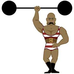 carnival beach muscle man drawings picture 13