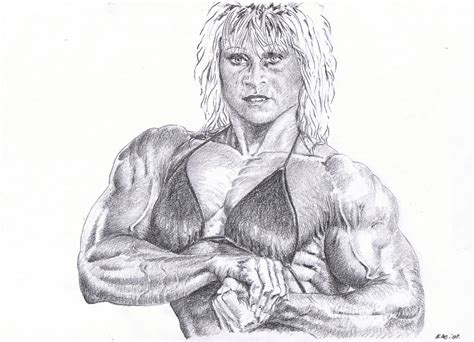 female muscle art picture 8