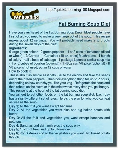 Fat burning cabbage soup diet picture 1