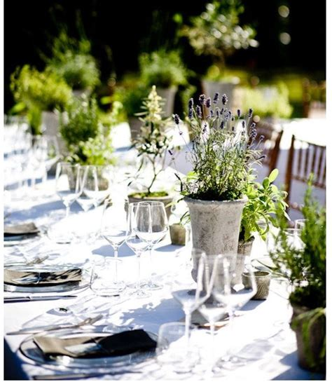 Table centerpieces herbal picture 11