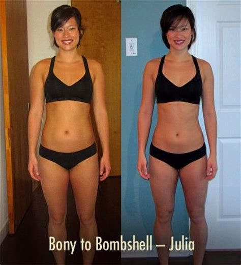 female weight gain before and after picture 1