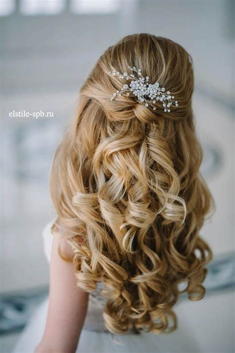 wedding hair half up half down formal picture 1