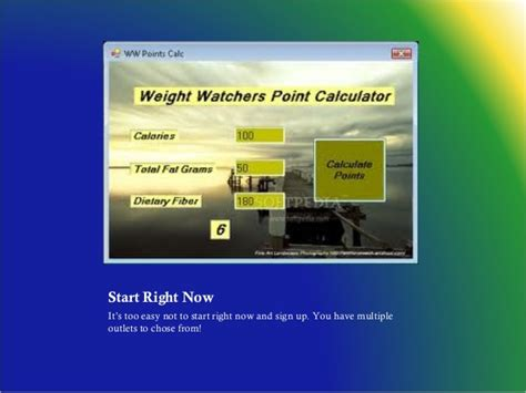 weighchers online weight loss - weight watchers etools picture 9