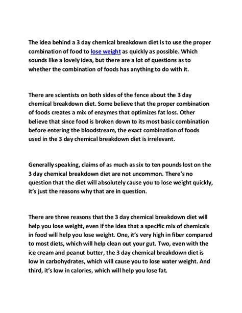 chemical breakdown diet picture 6
