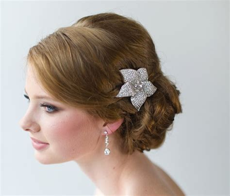 crystal flower hair clips picture 11