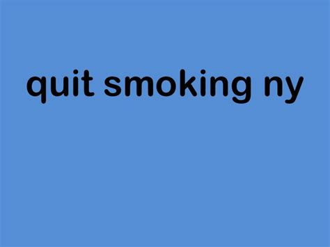 quit smoking ny clinics picture 1
