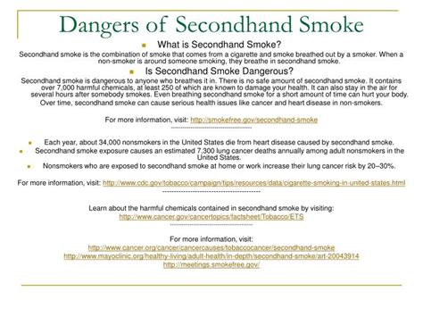 dangers of secondhand smoke picture 4