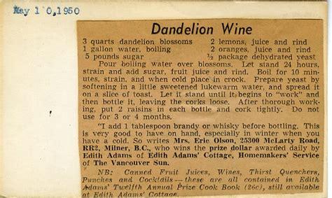 dandelion wine al picture 1
