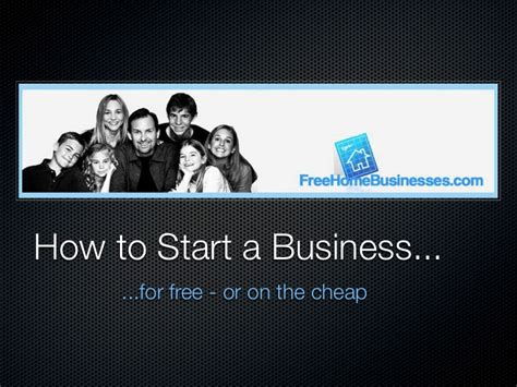 start a home business for free picture 1
