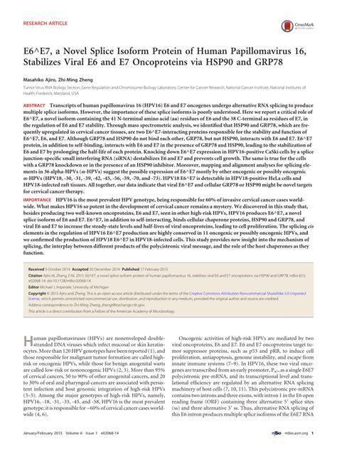human papillomavirus e6 picture 1