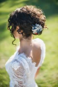 curly frizzy hair updo for wedding picture 15