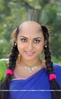 indian headshave female picture 9