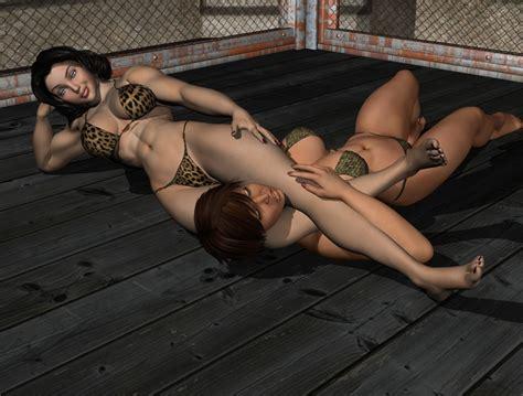 female wrestling headscissors hold picture 3