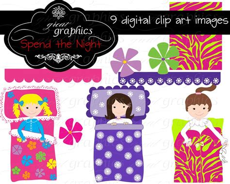 clip art with sleep over partys picture 9