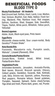 blood type food list picture 9