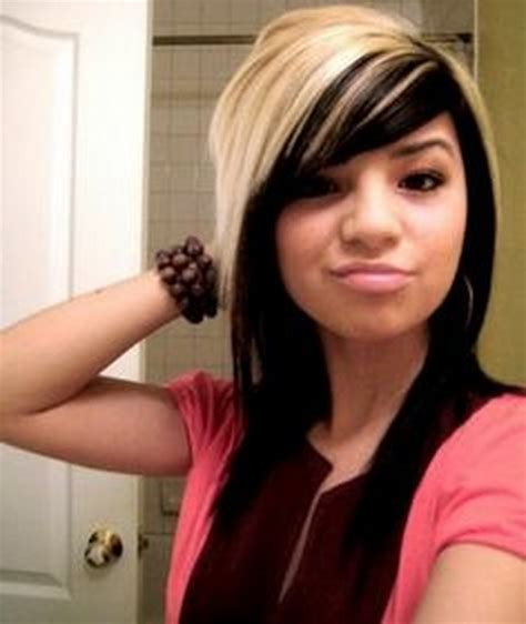 blonde hair with black hair underneath hairstyles picture 10