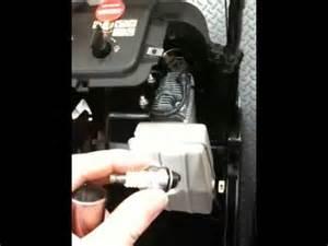 change sparkplug in toro 2450 gts snowblower picture 6