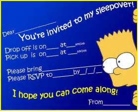free printable sleepover party invitation picture 3