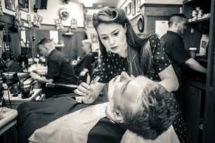 barber shaving women picture 15