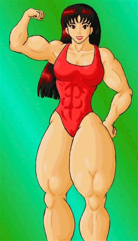 female muscle growth art picture 1