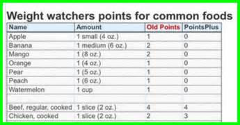 daily weight watchers points list picture 10